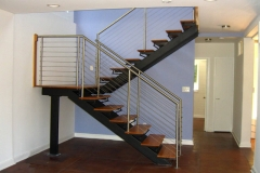 double stringer stairs wood treads