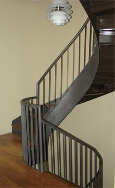 Curved Pan Stairs with Stringers