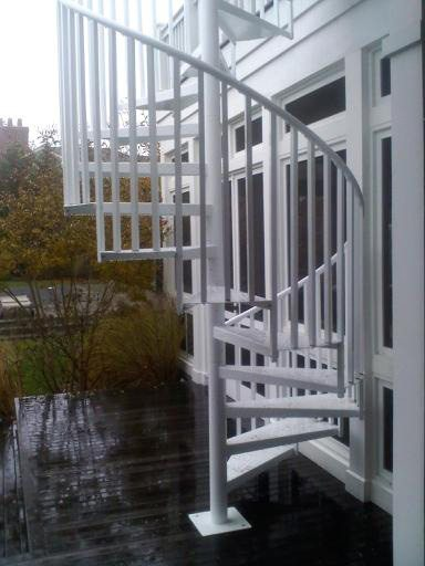 Outdoor spiral stairs exterior staircases in ct nyc for Pre made spiral staircase