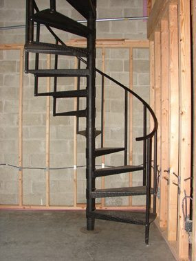 Renovating Your Attic And Need To Conserve Space Use A Spiral Staircase Acadia Stairs