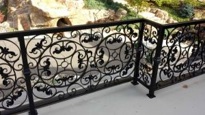 rought iron fence