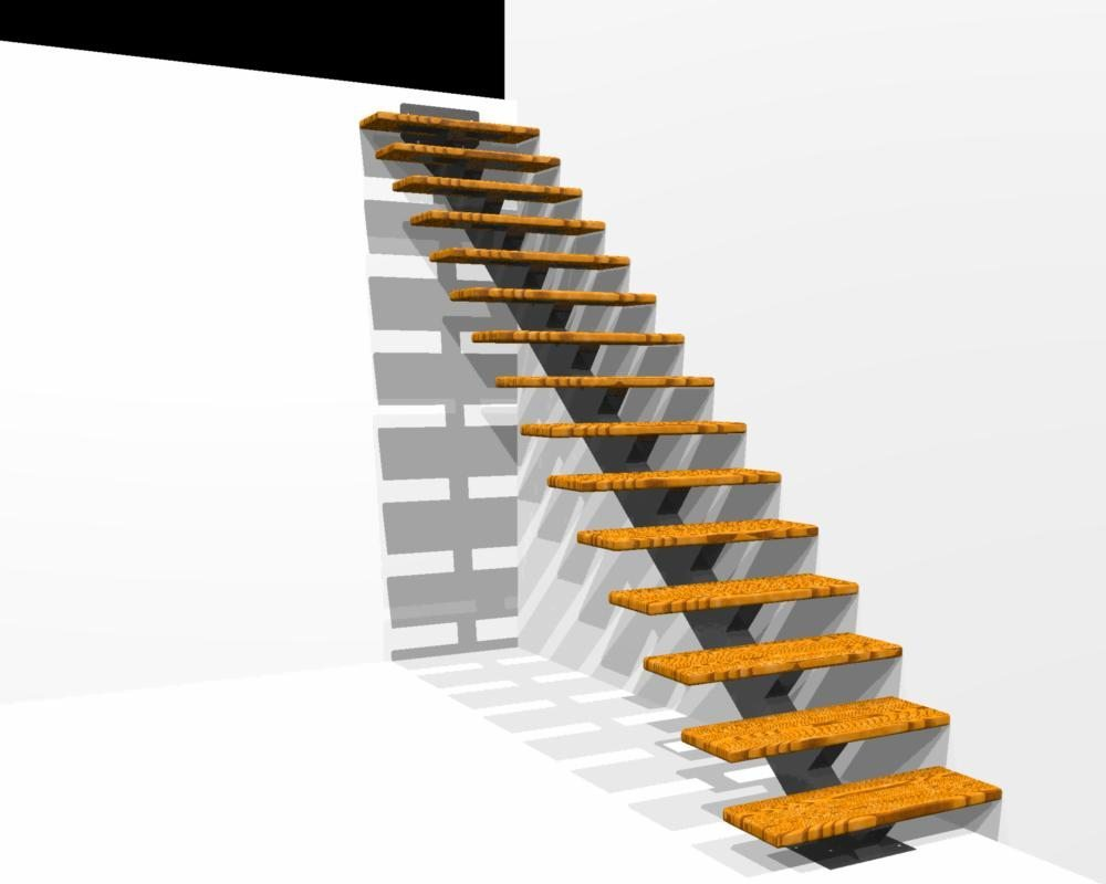 Floating Stairs Single Stringer Staircases In Nyc Ct