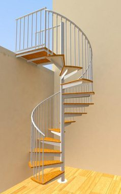 Custom spiral stairs spiral staircase design in ct nyc for Pre made spiral staircase