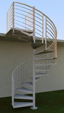 Heavy-Duty Spiral Staircase