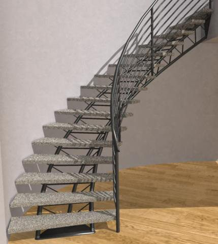 Amazing Curved Metal Stairs