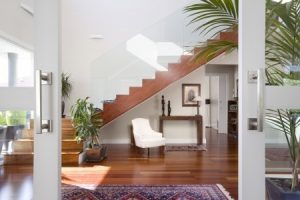 staircase console table