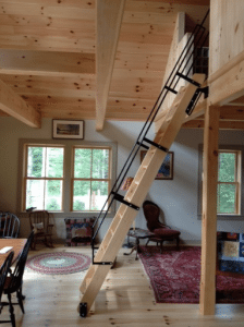Maximize your space with a ship ladder acadia stairs for How do i build a mezzanine