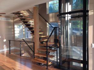 Open Riser Stairs Enhance Modern Style