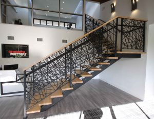 custom straight staircase