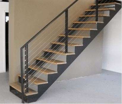 This Double Stringer Staircase Has A Modern Railing System. This Architectural  Stair System Is Perfect For An Open Look And Goes Well With Cable Rails Or  ...