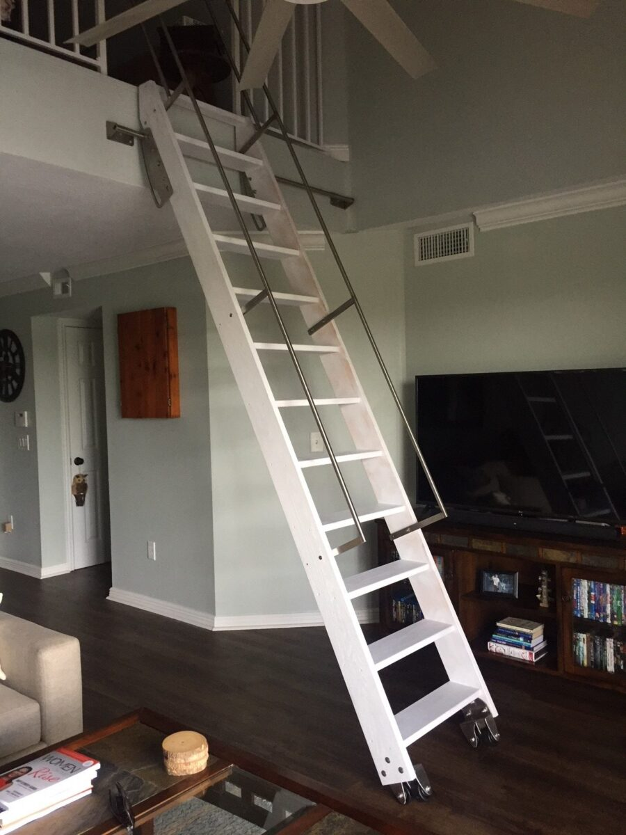 The 2 Directional Ship Ladder Sliding Bracket Allows You To Slide Your Ship  Ladder Back To The Wall And Then To The Side To Get It Out Of The Way.