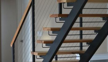 open straight staircase